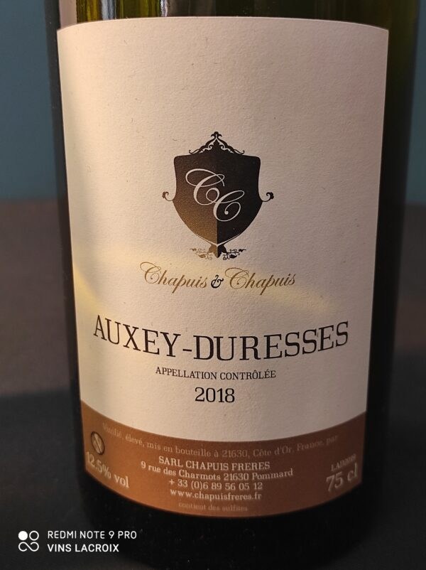 chapuis freres auxey duresses 2018
